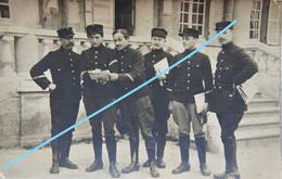 Photox2 ABL VALOGNES Sous Officiers Belges 1915 Tenue Ijzer Belgische Leger Armée Belge - Guerra, Militari