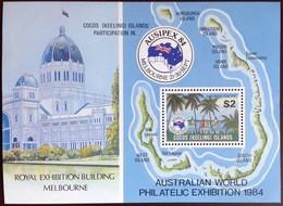 Cocos Keeling 1984 Ausipex Minisheet MNH - Cocos (Keeling) Islands