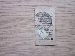 MAV Pecs Old Train Ticket Hungari - Tickets - Vouchers