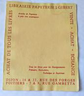BUVARD Librairie GIBERT à DIJON Et à POITIERS, Buvard Double, Version En Jaune Pâle. - G