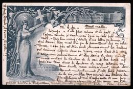 CAPRI - ANACAPRI - CARTOLINA COMMEMORATIVA PER LE NOZZE REALI SPEDITA NEL 1897 DA ANACAPRI - Manifestazioni