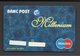 Romania, Banc Post,(Post Bank), Millenium, Expiration Date: 2000. - Credit Cards (Exp. Date Min. 10 Years)