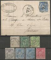 France - Type Sage - Dép.86 Vienne : Lésigny, Sanxay, Liguge, Les Ormes-s/Vienne, Lusignan, Poitiers - 1877-1920: Periodo Semi Moderno