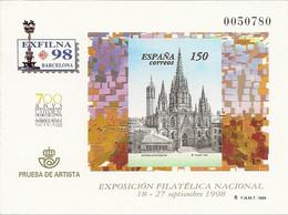 España Prueba Oficial  Edifil 66 Exilna'98 Barcelona  1998  NL922 - 1931-Hoy: 2ª República - ... Juan Carlos I