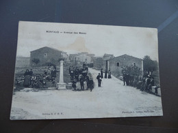 CPA 30 Gard  Montaud Avenue Des Mazes - Sonstige Gemeinden