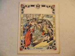 Protège Cahier, Fin XIX,  FABLE De FLORIAN, Le PERROQUET - Protège-cahiers