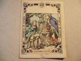 Protège Cahier, Fin XIX,  FABLE De FLORIAN, Le  JEUNE HOMME Et Le VIEILLARD - Protège-cahiers