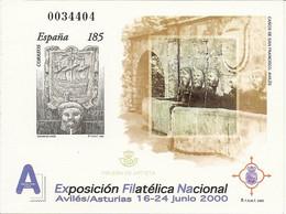 España Prueba Oficial  Edifil 72  Exfilna'2000  Avilés  2000  NL999 - 1931-Hoy: 2ª República - ... Juan Carlos I