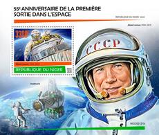 Niger 2020  First Spacewalk (Alexei Leonov) S202007 - Niger (1960-...)
