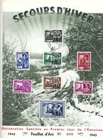 Belgien -   Belgique  Timbres  SECOURS D'HIVER  FDC  1943  Feuillet D' Art  No. 2209   Dina 4 - Blocs 1924-1960