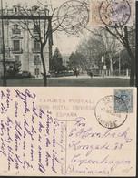 (1922ca)-DOS T. POSTAL-Edifil: 274, 289/90. ALFONSO XIII-MEDALLON. TENERIFE A COPENAGUE Y SIN CIRCULAR - 1889-1931 Kingdom: Alphonse XIII