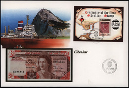 Geldschein Banknote Banknotenbrief Gibraltar Schein 1 Pound 1983  - Bankbiljetten