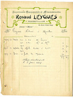 47  VILLENEUVE SUR LOT   IMPRIMERIE COMMERCIALE  -  RENAUD LEYGUES      -   FACTURE 1905 - Frankreich