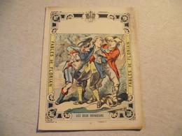 Protège Cahier, Fin XIX,  FABLE De FLORIAN, LES DEUX VOYAGEURS - Protège-cahiers