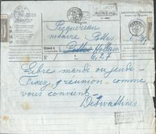 Télégramme Càd Relais *POTTES*/1902 + TOURNAI + Octog TOURNAI/*. Rare Avec Relais - Telegraph