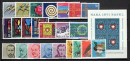 1971. Switzerland. Full Years. MNH ** - Nuovi