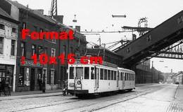 Reproduction D'une Photographie Ancienne D'un Tramway Ligne 92 Avec Publicité Côte D'Or à Marchienneen Belgique En 1956 - Reproductions