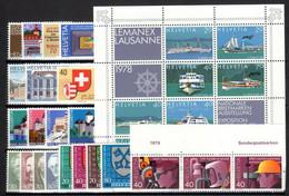 1978. Switzerland. Full Years. MNH ** - Nuovi