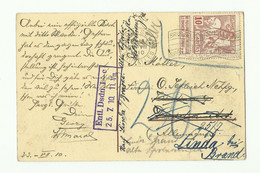 10c. Caritas Ligné, Obl Méc. De BRUXELLES EXPOSITION Sur CV Du 23-VII-1910 Vers L'Allemagne - 16142 - 1910-1911 Caritas
