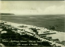 MESSINA - STABILIMENTO BALNEARE - LIDO DEL TIRRENO SULLA SPIAGGIA DI MORTELLE - SPEDITA - 1950s (BG6150) - Messina