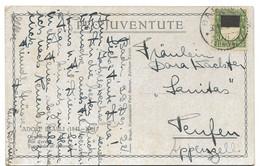 """79 - 14 - Carte Pro Juventute """"Jour D'orage"""" Avec Timbre Pro Juventute Et Cachets à Date 1922 - Storia Postale"""