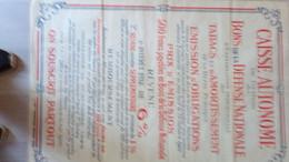 AFFICHE BONS DEFENSE NATIONALE TABACS TABAC ET AMORTISSEMENTS DETTE PUBLIQUE -OBLIGATIONS OCTOBRE 1926 - Posters