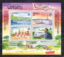 VANUATU - 1985 5th ANNIVERSARY OF INDEPENDENCE - MIN/SHT MNH - Vanuatu (1980-...)
