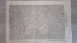 17- JONZAC- RARE AFFICHE PLAN 1889-LAPRADE AUBETERRE-FESTALEMPS-BELLON-ORIVAL-SAUVIGNAC-PUYMANGOU-BOSCAMNANT-RIOUX - Posters
