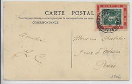 1910 - SEMEUSE Avec PORTE TIMBRE Du MILLENAIRE De CLUNY - Storia Postale