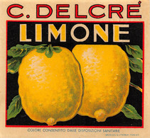 """M011220 """" LIMONE-C. DELCRE' """"  ETICHETTA - Labels"""
