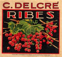 """M011221 """" RIBES-C. DELCRE' """"  ETICHETTA - Labels"""