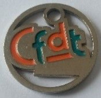 Jeton De Caddie - Syndicat - CFDT - En Métal - - Trolley Token/Shopping Trolley Chip