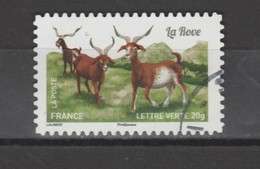 "FRANCE / 2015 / Y&T N° AA 1101 : "" Chèvres"" (Rove) - Choisi - Cachet Rond - Autoadesivi"