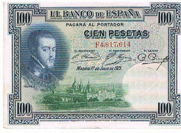 ESPAGNE  100 PESETAS    JUILLET 1925       BI13 - [ 1] …-1931 : Prime Banconote (Banco De España)