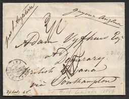 1848 ENTIRE - 29 FEV (ANNÉE BISSEXTILE - LEAP YEAR) PARIS A GUYANE BRITANNIQUE - BRITISH GUIANA - Via Southampton - 1801-1848: Precursors XIX
