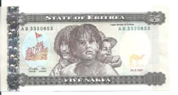 ERYTHREE 5 NAKFA 1997 UNC P 2 - Eritrea