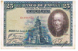 ESPAGNE  25 PESETAS    AOUT 1928      BI15 - [ 1] …-1931 : Prime Banconote (Banco De España)