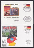 Genscher, Dr. Kohl, Gorbatschow, 4 Briefe Dt. Einheit  Weltwirtschaftsgipfel Germany, Nahost-Konferenz - Lettere