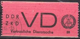 DDR ZKD D1 Vertrauliche Dienstsache Aufkleber Eckstempel - Service
