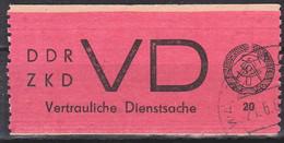 Waldheim DDR ZKD D1 Vertrauliche Dienstsache Aufkleber OSt. 21.6.65 - Service