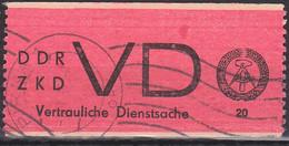 Pirna DDR ZKD D1 Vertrauliche Dienstsache Aufkleber Wellenstempel - Service