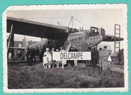"""Avion """" JOSEPH Le BRIX"""" F-ALCC - L'Aviateur ROSSI Et Sa Famille Posant Devant L'appareil. Photo Originale 1934 - Aviation"""