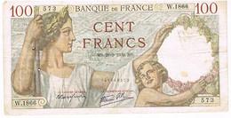 FRANCE BILLET DE 100 FRANCS   MS. 28 -9-1939    N°573                    BI2 - 1871-1952 Circulated During XXth