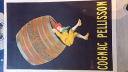 16- COGNAC - RARE AFFICHE COGNAC PELLISSON PERE - CAPPIELLO LEONETTO -IMPRIMERIE VERCASSON PARIS - Posters