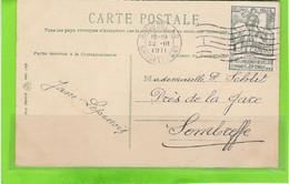 Fantasiekaart Met OCB 84 - Afstempeling BRUSSEL(ND) - 1910-1911 Caritas