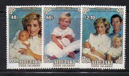 CI855 - AITUTAKI 1984 , Serie 416/418  ***  MNH  (2380A)  Christmas Diana - Aitutaki