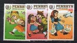 CI1010 - PENRHYN 1974 , Serie 314/316  ***  MNH  Jacob Grimm - Penrhyn