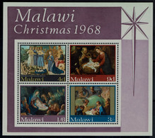 MALAWI 1968 CHRISTMAS BLOCK MI No BLOCK 12 MNH VF!! - Malawi (1964-...)