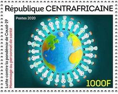 CENTRAL AFRICAN REPUBLIC 2020 - STAMP 1V 1000F - JOINT ISSUE - COVID-19 PANDEMIC PANDEMIE CORONA CORONAVIRUS - MNH - Emisiones Comunes