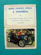 Petit Calendrier 1972 - Pharmacie VIGNOBOUL - Dakar - Sénégal - Voiture Ancienne - Kalender